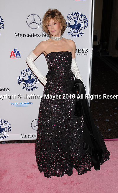 BEVERLY HILLS, CA. - October 23: Jane Fonda attends The 32nd Annual Carousel Of Hope Ball at The Beverly Hilton Hotel on October 23, 2010 in Beverly Hills, California.