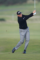 David Howell (ENG) during the Final Day of the Alfred Dunhill Links Championship at St. Andrews Golf Club on Sunday 29th September 2013.<br /> Picture:  Thos Caffrey / www.golffile.ie