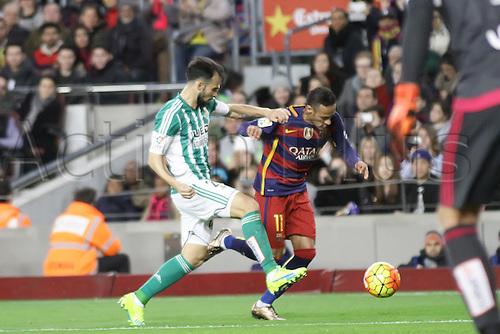 30.12.2015. Nou Camp, Barcelona, Spain. La Liga. Barcelona versus Real Betis. Neymar in action during the match