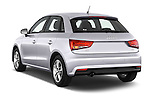Rear three quarter view of 2015 Audi A1 Sportback 5 Door Hatchback Angular Rear Stock Photo