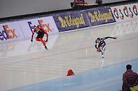 SPEEDSKATING: SOCHI: Adler Arena, 24-03-2013, Essent ISU World Championship Single Distances, Day 4, 500m Men, Denny Ihle  (GER), Kang-Seok Lee (KOR), © Martin de Jong