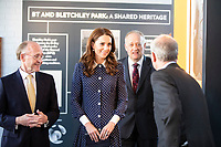 Duchess of Cambridge during a visit to Bletchley Park in Milton Keynes to view a special D- Day exhibition in the newly restored Teleprinter Building, marking the 75th anniversary of the D-Day landings. Photo Credit: ALPR/AdMedia