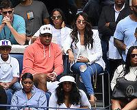 FLUSHING NY- SEPTEMBER 03: Carmelo Anthony, Lala Anthony and Kelly Rowland are sighted watching Serena Williams Vs Johanna Larssonon Arthur Ashe Stadium at the USTA Billie Jean King National Tennis Center on September 3, 2016 in Flushing Queens. Credit: mpi04/MediaPunch