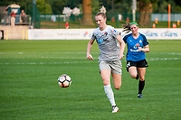Kansas City, MO - Thursday August 10, 2017: Samantha Mewis during a regular season National Women's Soccer League (NWSL) match between FC Kansas City and the North Carolina Courage at Children's Mercy Victory Field.