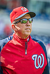 22 September 2013: Washington Nationals Manager Davey Johnson looks out from the dugout prior to a game against the Miami Marlins at Nationals Park in Washington, DC. The Marlins defeated the Nationals 4-2 in the first game of their day/night double-header. Mandatory Credit: Ed Wolfstein Photo *** RAW (NEF) Image File Available ***