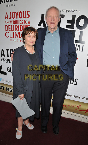LONDON, ENGLAND - JULY 07: Isla Blair &amp; Julian Glover attend the &quot;The Play That Goes Wrong&quot; LAMDA gala performance, Duchess Theatre, Catherine St., on Tuesday July 07, 2015 in London, England, UK. <br /> CAP/CAN<br /> &copy;CAN/Capital Pictures
