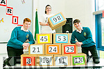 Mercy Mounthawk TY Students organised  activities for Maths Week on Tuesday pictured at the Magic Pyramid were Alex Lawlor, Sinead Maher and Paul Casidy