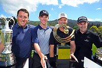 From left, Michael Goldstein, Dan Hillier, Murray Ward and Jason Eade. 2017 Asia-Pacific Amateur Championship Media and Partner Golf Day at Royal Wellington Golf Club in Wellington, New Zealand on Monday, 16 October 2017. Photo: Dave Lintott / lintottphoto.co.nz