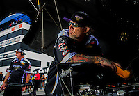 Aug 31, 2014; Clermont, IN, USA;  Television personality Jesse James , husband of NHRA funny car driver Alexis DeJoria (not pictured) during qualifying for the US Nationals at Lucas Oil Raceway. Mandatory Credit: Mark J. Rebilas-USA TODAY Sports