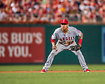 15 August 2017: Los Angeles Angels infielder Jefry Marte in action against the Washington Nationals at Nationals Park in Washington, DC. The Nationals defeated the Angels 3-1 in the first game of their 2-game series. Mandatory Credit: Ed Wolfstein Photo *** RAW (NEF) Image File Available ***