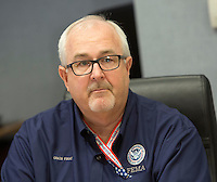 Federal Emergency Management Agency (FEMA) Administrator Craig Fugate listens after a briefing At FEMA Headquarters in Washington DC, October 5, 2016. <br /> Credit: Chris Kleponis / Pool via CNP /MediaPunch