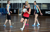 02.09.2016 Silver Ferns Laura Langman during training in Melbourne Australia. Mandatory Photo Credit ©Michael Bradley.