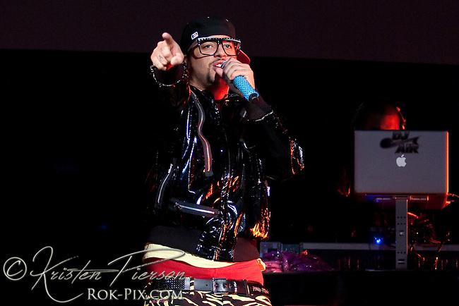 LMFAO performing at Mohegan Sun Arena on February 27, 2010