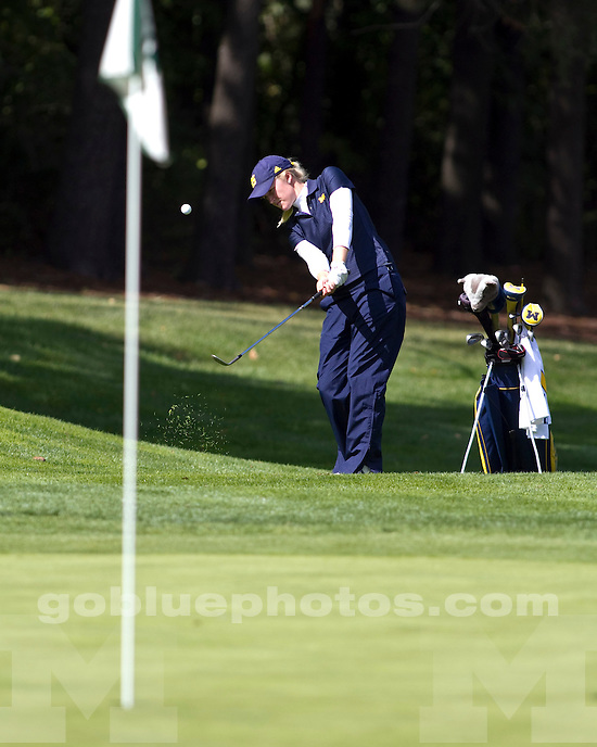 The University of Michigan women's golf team finished Day 1 in third place at the Mary Fossum Invitational at the Forest Akers golf Course in Lansing, Mich., on September 17, 2011.