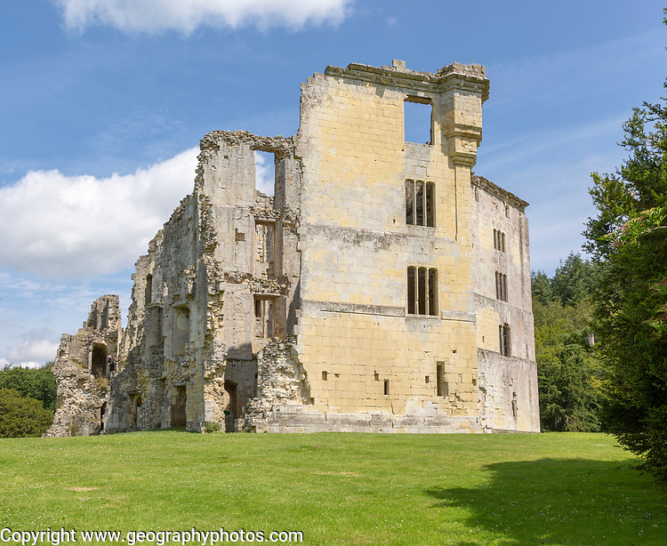 Ruins of Old Wardour castle, Wiltshire, England, UK