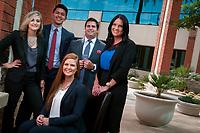 Clockwise, top left, the crew of Arizona Management Partners, Megan Coe,  Jesus Apodaca, Scott Clayton,Katie Castignetti and  Jamie Parker (seated).