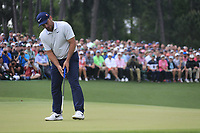 Francesco Molinari (ITA) on the 18th green during the final round at the The Masters , Augusta National, Augusta, Georgia, USA. 14/04/2019.<br /> Picture Fran Caffrey / Golffile.ie<br /> <br /> All photo usage must carry mandatory copyright credit (© Golffile | Fran Caffrey)