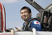 Cape Canaveral, FL - January 19, 2009 -- STS-119 Mission Specialist Koichi Wakata arrives at NASA's Kennedy Space Center in Florida aboard a T-38 jet training aircraft. Wakata represents the Japan Aerospace Exploration Agency and will fly on the mission to the International Space Station to remain behind as a member of the Expedition 18 crew. The crew flew to Kennedy to take part in terminal countdown demonstration test activities, which include equipment familiarization and emergency exit training and culminate in a simulated launch countdown. .Credit: Kim Shiflett - NASA via CNP