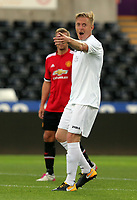 Garry Monk of Swansea in action during the Swansea Legends v Manchester United Legends at The Liberty Stadium, Swansea, Wales, UK. Wednesday 09 August 2017