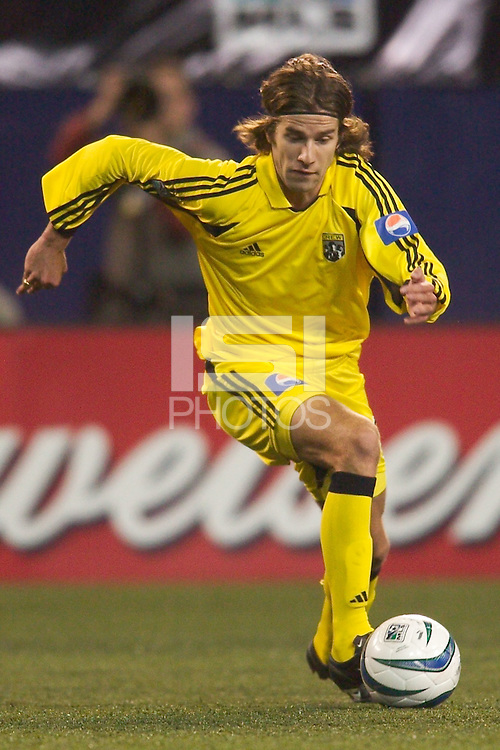 Kyle Martino of the Columbus Crew during a game against the NY/NJ MetroStars. The Crew defeated the MetroStars 1-0 on 4/12/03 at Giant's Stadium, East Rutherford, NJ.