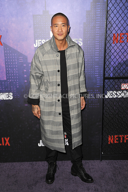 www.acepixs.com<br /> March 7, 2018  New York City<br /> <br /> Terry Chen attending attending Marvel's 'Jessica Jones' season 2 TV show premiere on March 7, 2018 in New York City.<br /> <br /> Credit: Kristin Callahan/ACE Pictures<br /> <br /> <br /> Tel: 646 769 0430<br /> Email: info@acepixs.com