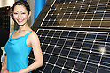 May 31, 2010 - Tokyo, Japan - A campaign girl for Panasonic introduces the new HIT215 Series household solar power generation systems that will be on sale in July 1, during a press-conference in Tokyo, on May 31, 2010. This is the first series since Panasonic acquired domestic rival Sanyo. Panasonic is aiming for top market share of at least 35 percent in Japan by 2012.