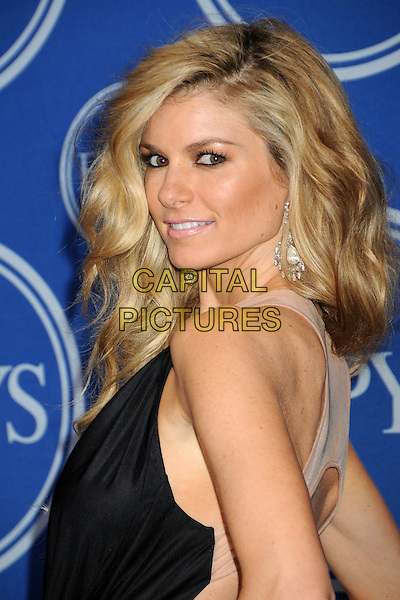 MARISA MILLER .18th Annual ESPY Awards - Press Room held at Nokia Theatre L.A. Live, Los Angeles, California, USA, .14th July 2010..espys portrait headshot black  looking back over shoulder side profile .CAP/ADM/BP.©Byron Purvis/AdMedia/Capital Pictures.