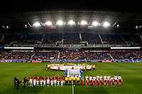Harrison, NJ - Tuesday April 10, 2018: Pre-game prior to leg two of a  CONCACAF Champions League semi-final match between the New York Red Bulls and C. D. Guadalajara at Red Bull Arena. C. D. Guadalajara defeated the New York Red Bulls 0-0 (1-0 on aggregate).