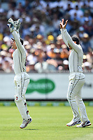 27th December 2019; Melbourne Cricket Ground, Melbourne, Victoria, Australia; International Test Cricket, Australia versus New Zealand, Test 2, Day 2; Ross Taylor and BJ Watling of New Zealand appeal for a wicket - Editorial Use