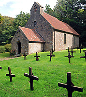 Pictured: The cemetery on Caldey Island off the Pembrokeshire coast, Wales, UK. STOCK PICTURE<br /> Re: A survivor of abuse committed by a monk at a monastery on Caldey island, has called for his body to be exhumed and removed from the island.<br /> The woman, who was abused by Father Thaddeus Kotik in the 1970s and 80s, said she wants an inquiry to be held.<br /> The unnamed woman said that she did not speak out about the abuse as a child because Kotik threatened her.<br /> Caldey Abbey has previously apologised for not passing the reports of abuse on to police at the time.