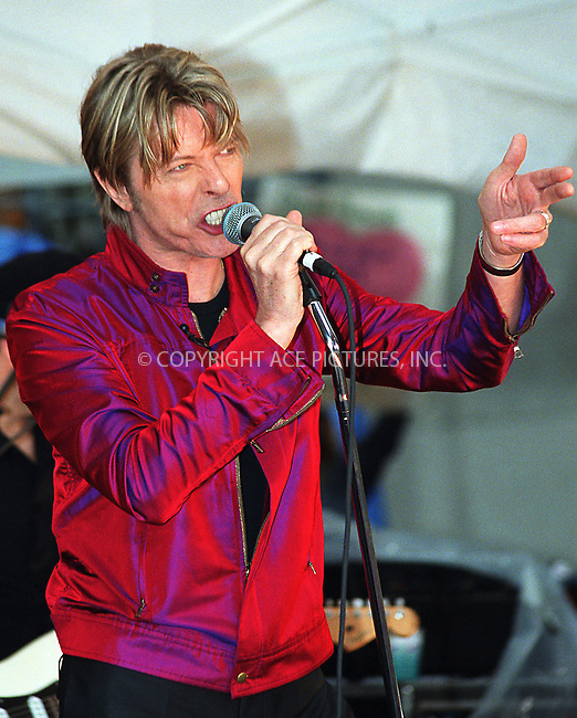 "David Bowie performs on NBC's ""Today Show"" as part of Summer Concert Series. New York, June 14, 2002. Please byline: Alecsey Boldeskul/NY Photo Press.   ..*PAY-PER-USE*      ....NY Photo Press:  ..phone (646) 267-6913;   ..e-mail: info@nyphotopress.com"