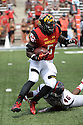 Maryland Terrapins Wes Brown (5) during a game against the Richmond Spiders on September 5 2015 at Byrd Stadium in College Park, MD. Maryland beat Richmond 51-21.