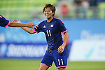 Chinatsu Kira (JPN), <br /> SEPTEMBER 18, 2014 - Football / Soccer : <br /> Women's Group Stage <br /> between Japan Women's 12-0 Jordan Women's <br /> at Namdong Asiad Rugby Field <br /> during the 2014 Incheon Asian Games in Incheon, South Korea. <br /> (Photo by YUTAKA/AFLO SPORT)