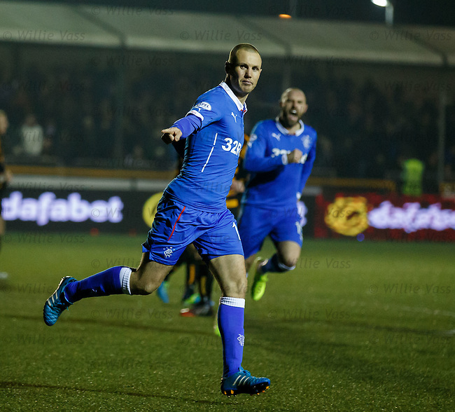 Kenny Miller celebrates after he scores for Rangers