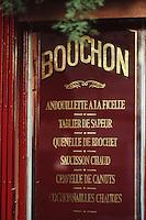 Europe/France/Rhône-Alpes/69/Rhone/Lyon: Détail menu d'un bouchon lyonnais