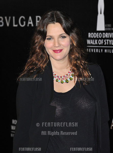 Drew Barrymore at the 2012 Rodeo Drive Walk of Style Gala honoring Italian jeweler Bulgari..December 5, 2012  Los Angeles, CA.Picture: Paul Smith / Featureflash