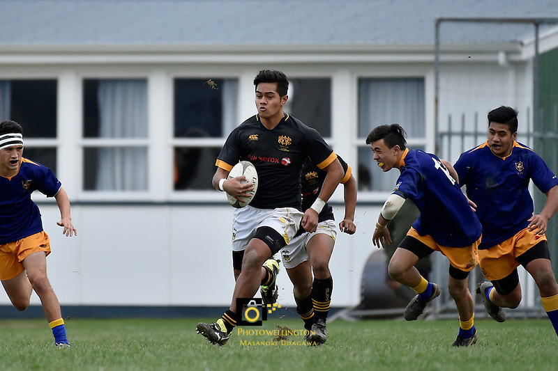 College Rugby - St Bernard's College v Wellington College at St Bernard's College on Saturday 9 July 2016.<br /> Photo by Masanori Udagawa. <br /> www.photowellington.photoshelter.com.