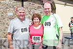 Pictured at the Athea Tidy Towns 5k and 10k fun run and walk which took place on Sunday were Bob and Bridie (originally Athea) Birchall, Manchester and Brian Kelly, Philidelphia.