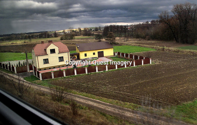 Images of Poland by rail from Warsaw to Krakow.<br />