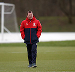 Craig Mulholland watching training