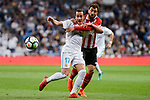 Real Madrid Lucas Vazquez and Athletic Club Mikel Balenziaga during La Liga match between Real Madrid and Athletic Club at Santiago Bernabeu Stadium in Madrid. April 19, 2017. (ALTERPHOTOS/Borja B.Hojas)