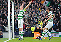 CELTIC'S SCOTT BROWN CELEBRATES AFTER HE SCORES CELTIC'S FIRST FROM THE SPOT