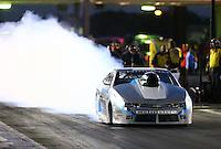 Oct 16, 2015; Ennis, TX, USA; NHRA pro stock driver Jonathan Gray during qualifying for the Fall Nationals at the Texas Motorplex. Mandatory Credit: Mark J. Rebilas-USA TODAY Sports
