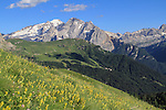 Mount Marmolada in the Dolomites, northern Italy, Europe.