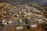 Charlotte aerial photography - October 2010 - of the Ballantyne Corporate Park and Ballantyne business center.
