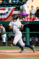 Walter Ibarra (25) of the Tampa Yankees during a game vs. the Lakeland Flying Tigers May 15 2010 at Joker Marchant Stadium in Lakeland, Florida. Tampa won the game against Lakeland by the score of 2-1.  Photo By Scott Jontes/Four Seam Images