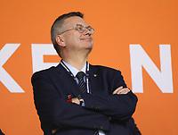 DFB-Präsident Reinhard Grindel - 13.10.2018: Niederlande vs. Deutschland, 3. Spieltag UEFA Nations League, Johann Cruijff Arena Amsterdam, DISCLAIMER: DFB regulations prohibit any use of photographs as image sequences and/or quasi-video.
