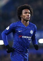 Willian of Chelsea during Chelsea vs Aston Villa, Premier League Football at Stamford Bridge on 4th December 2019