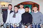 Liam Brosnan, Paudie and David Clifford, Darragh and Niall O'Donoghue  at the East Kerry victory social in the Killarney Heights on the 20th December