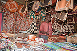 A man sells leather handicrafts inNigeria's capital city of Abuja.